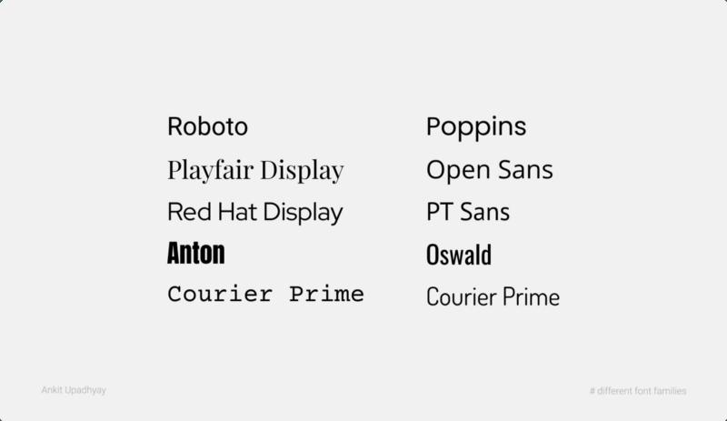 Different Font-families