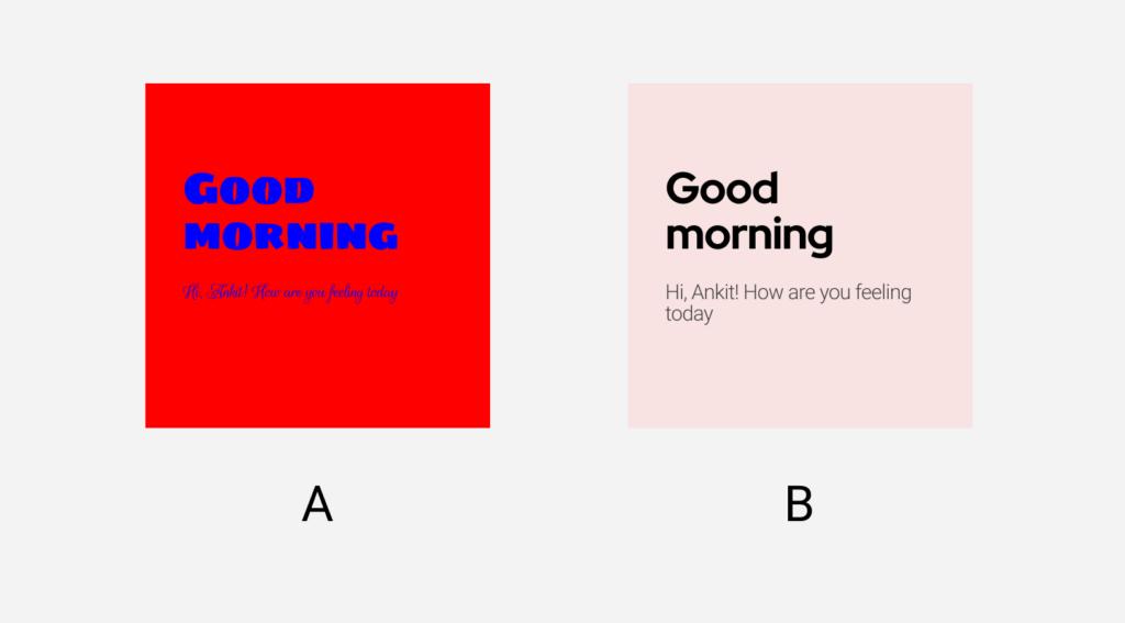 an image showing good ui vs bad ui