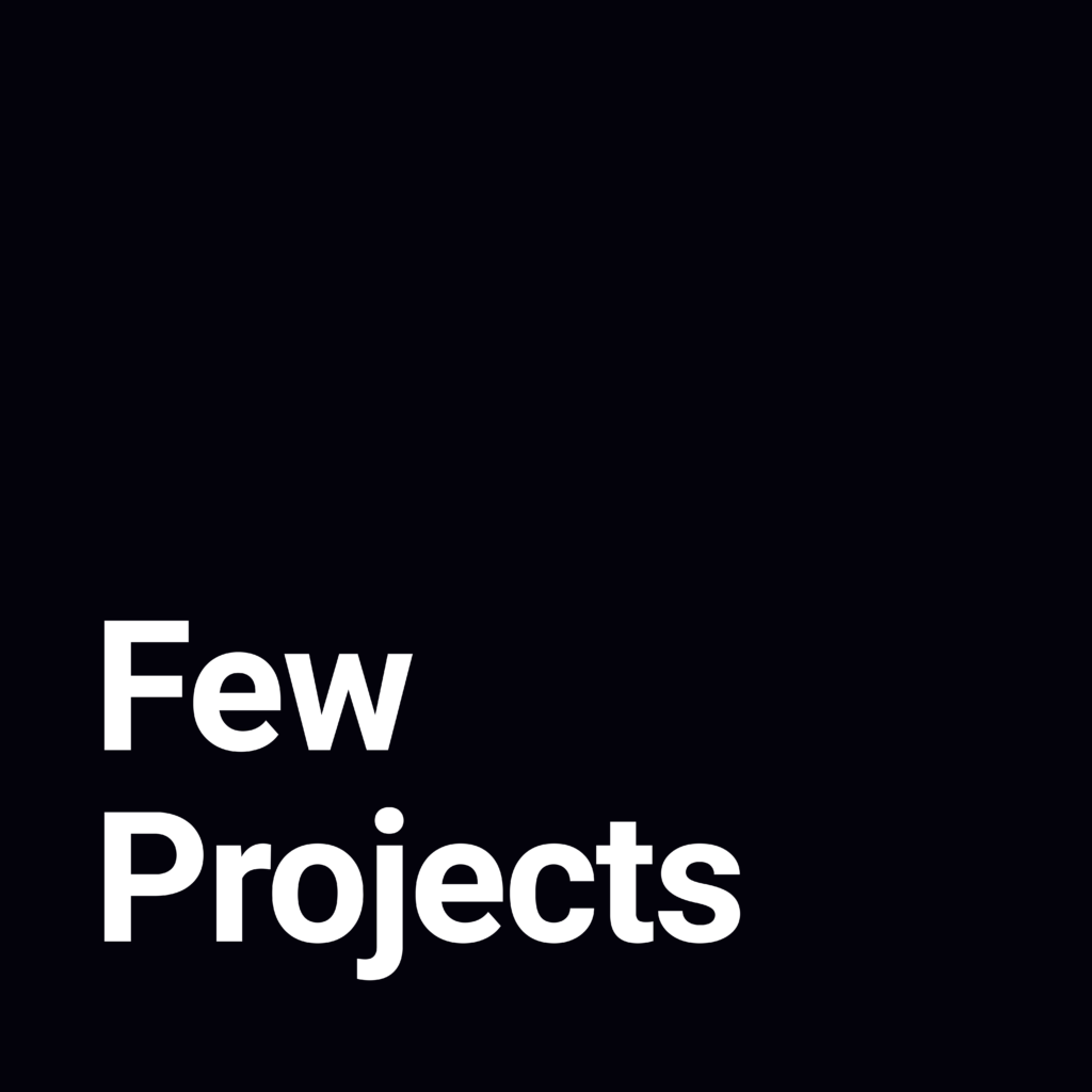 Few projects is the github organization where i save my coding projects.