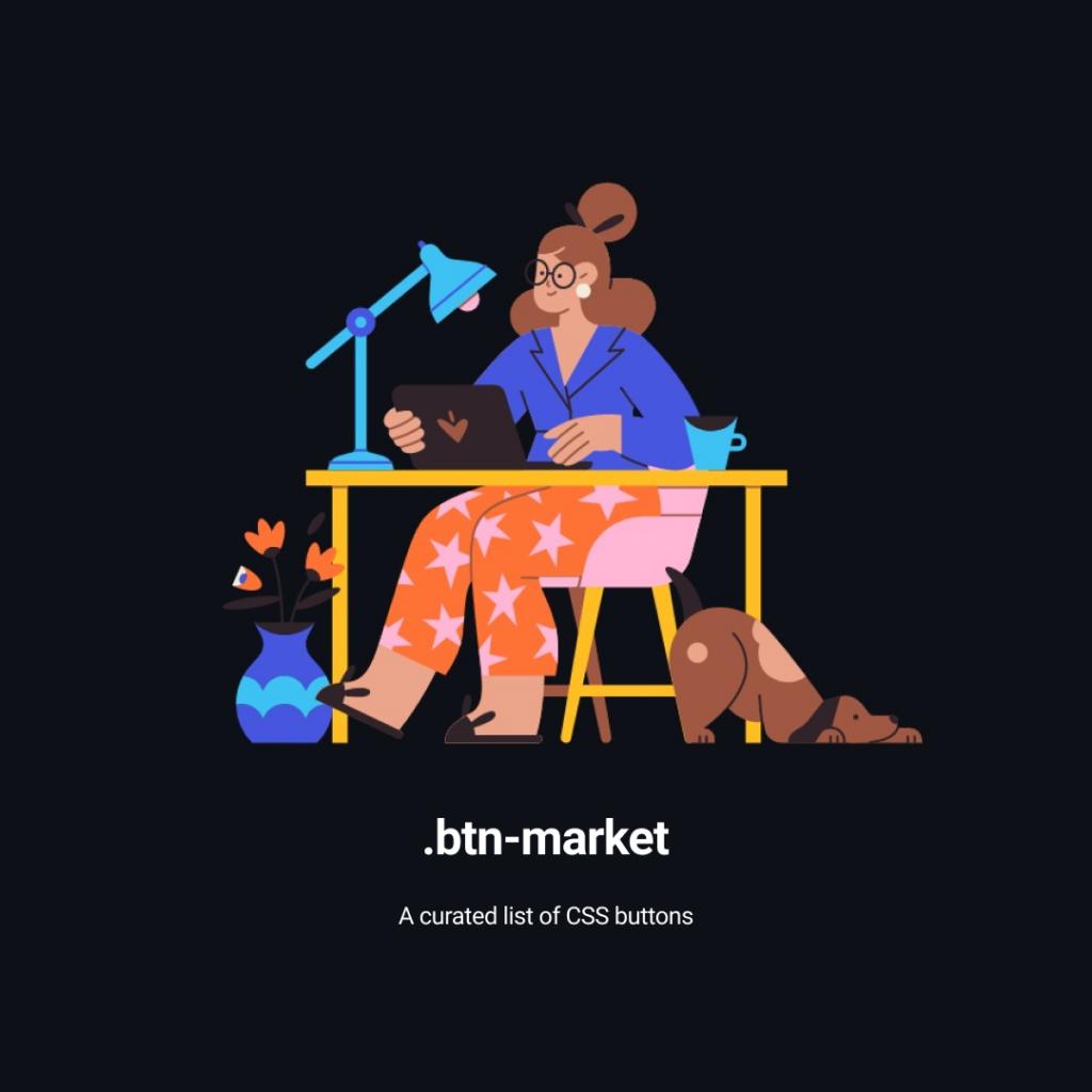 css btn market list of buttons